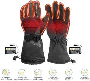 guanti riscaldati moto sci