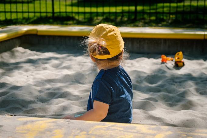 sabbiera giardino terrazzo bambini
